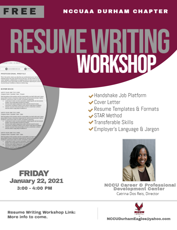 NCCUAA Durham Chapter Resume Writing Workshop